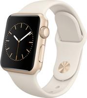 Apple Watch Series 1 38mm Caja de aluminio en oro con correa deportiva blanco antiguo [Wifi]