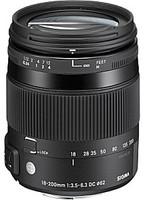 Sigma 18-200mm F3.5-6.3 DC Macro OS HSM Contemporary 62mm Objetivo (Montura Canon EF) negro