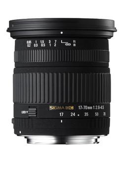 Sigma 17-70 mm F2.8-4.5 DC Macro 72 mm filter (geschikt voor Nikon F) zwart