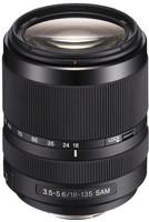 Sony 18- 135 mm F3.5-5.6 DT SAM 62 mm Objetivo (Montura Sony A-mount) negro