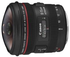 Canon EF 8-15 mm F4.0 L Fisheye (Montura Canon EF) negro