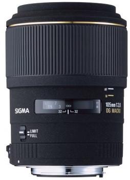 Sigma 105 mm F2.8 DG EX Macro 58 mm filter (geschikt voor Four Thirds) zwart