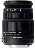 Sigma 50-200 mm F4.0-5.6 DC HSM OS 55 mm Objectif (adapté à Sony A-mount) noir