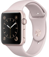Apple Watch Series 1 42 mm Caja de aluminio oro rosa con correa deportiva arena rosa [Wifi]