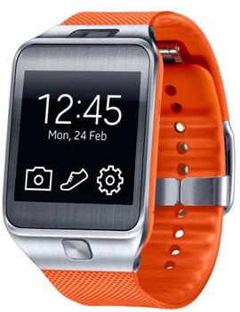 Samsung Gear 2 smartwatch 41,4mm plata con correa de goma naranja