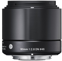 Sigma A 60 mm F2.8 DN 46 mm Objectif (adapté à Micro Four Thirds) noir