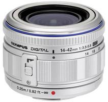 Olympus M.Zuiko Digital 14-42 mm F3.5-5.6 ED L 40,5 mm Objectif (adapté à Micro Four Thirds) argent