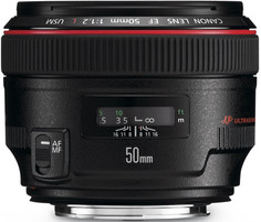 Canon EF 50 mm F1.2 L USM 72 mm filter (geschikt voor Canon EF)  zwart