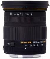 Sigma 18-50 mm F2.8 DC EX Macro 72 mm Objetivo (Montura Canon EF) negro