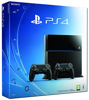 Sony PlayStation 4 (500 GB)  [incl. 2 draadloze controllers] zwart