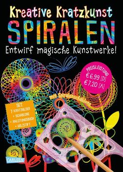 Kreative Kratzkunst: Spiralen: Set mit 7 Kratztafeln, Spirograph, Anleitungsbuch und Holzstift - Anton Poitier  [Taschenbuch]
