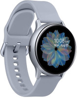 Samsung Galaxy Watch Active2 40 mm - Boîtier en aluminium argent et bracelet sport argent [Wi-Fi]