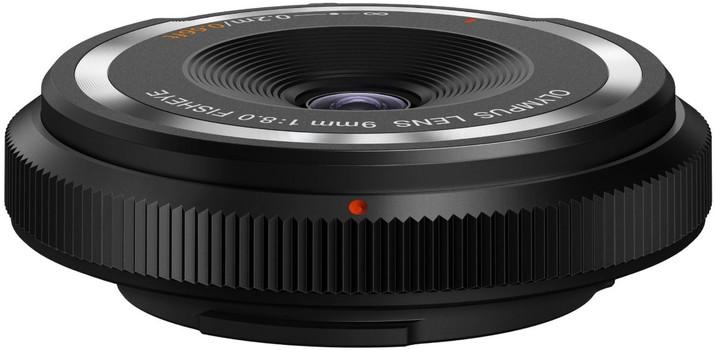 Olympus Body Cap Lens 9 mm F8.0 Fisheye (geschikt voor Micro Four Thirds) zwart