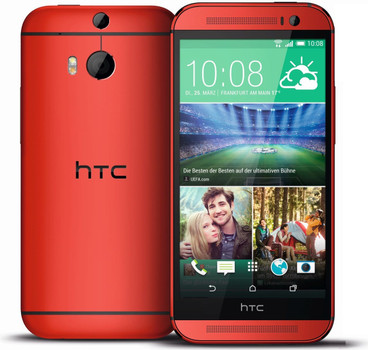 HTC One (M8) 16 Go rouge glamour