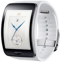 Samsung Gear S 50,9 mm zilver met silicone bandje wit [wifi + 3G]