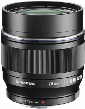 Olympus 75 mm F1.8 ED 58 mm Obiettivo (compatible con Micro Four Thirds) nero