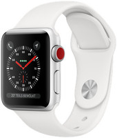 Apple Watch Series 3 38mm Caja de aluminio plata con correa deportiva blanco suave [Wifi + Cellular]