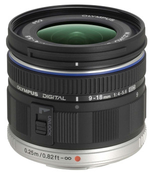 Olympus M.Zuiko Digital 9-18 mm F4.0-5.6 ED 52 mm Obiettivo (compatible con Micro Four Thirds) nero