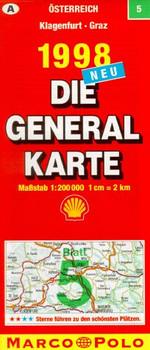 Generalkarte Österreich 5. Klagenfurt, Graz. Mit Stadtplänen, Farbphotos und Reiseführer.