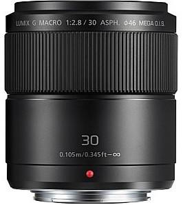 Panasonic Lumix G MACRO 30 mm F2.8 ASPH. O.I.S. 46 mm filter (geschikt voor Micro Four Thirds) zwart