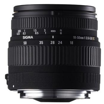 Sigma 18-50 mm F3.5-5.6 ASPH. DC 58 mm Obiettivo (compatible con Sony A-mount) nero