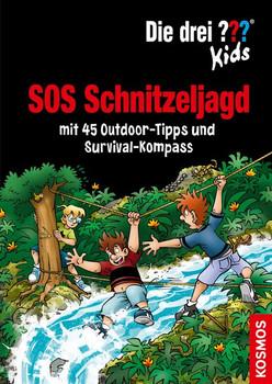Die drei ??? Kids, SOS Schnitzeljagd. mit 45 Outdoor-Tipps und Survival-Kompass - Astrid Schulte  [Gebundene Ausgabe]