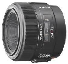Sony 50 mm F2.8 Macro 55 mm Objectif (adapté à Sony A-mount) noir