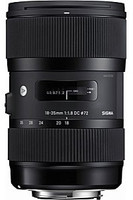 Sigma A 18-35 mm F1.8 DC HSM 72 mm Objetivo (Montura Canon EF-S) negro