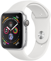 Apple Watch Series 4 44mm caja de aluminio en plata y correa deportiva blanca [Wifi]