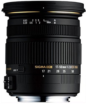 Sigma 17-50 mm F2.8 DC EX HSM OS 77 mm Objectif (adapté à Sony A-mount) noir
