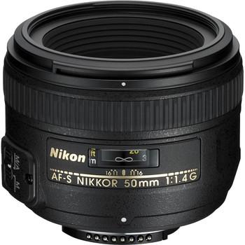 Nikon AF-S NIKKOR 50 mm F1.4 G 58 mm Objectif (adapté à Nikon F) noir