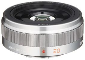 Panasonic Lumix G 20 mm F1.7 ASPH. II 46 mm Objetivo (Montura Micro Four Thirds) plata