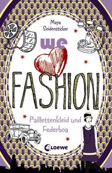 we love fashion - Paillettenkleid und Federboa - Seidensticker, Maya
