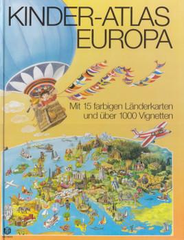Kinder-Atlas Europa: Mit 15 farbigen Länderkarten und über 1000 Vignetten [Gebundene Ausgabe]