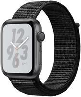 Apple Watch Nike+ Serie 4 44 mm alloggiamento in alluminio space grigio con Loop sportivo Nike nero [Wi-Fi]