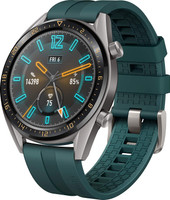 Huawei Watch GT 46,5 mm grijs met siliconenarmband groen [active edition]