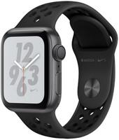 Apple Watch Nike+ Series 4 40 mm Apple Watch Nike+ Boîtier en aluminium gris sidéral avec Bracelet Sport Nike Anthracite/Noir [Wifi]