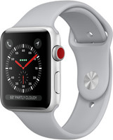 Apple Watch Series 3 42mm Caja de aluminio en plata con correa deportiva gris niebla [Wifi + Cellular]