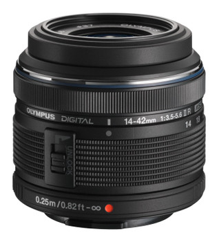 Olympus M.Zuiko 14-42 mm F3.5-5.6 R II 40,5 mm filter (geschikt voor Micro Four Third) zwart