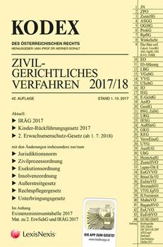 KODEX Zivilgerichtliches Verfahren 2017/18 [Taschenbuch]