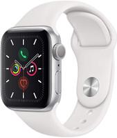 Apple Watch Series 5 40 mm Aluminiumgehäuse silber am Sportarmband weiß [Wi-Fi]