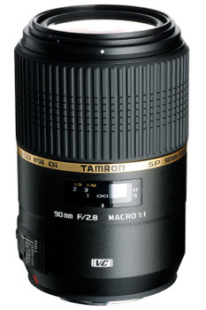 Tamron SP 90 mm F2.8 Di USD VC Macro 1:1 58 mm Obiettivo (compatible con Canon EF) nero