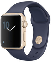 Apple Watch Series 1 42mm Caja de aluminio en oro con correa deportiva azul noche [Wifi]