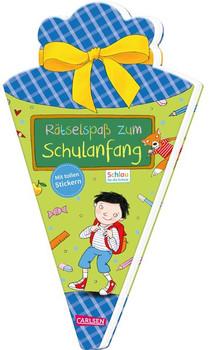 Schlau für die Schule: Rätselspaß zum Schulanfang mit Stickern (Schultüte für Jungen). Malen und Rätseln für den Schulstart - Caroline Fuchs  [Taschenbuch]