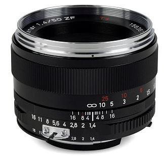 Zeiss Planar T* 50 mm F1.4 ZF 58 mm Objetivo (Montura Nikon F) negro