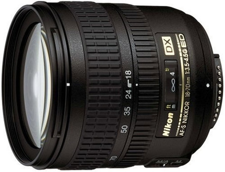 Nikon AF-S DX NIKKOR 18-70 mm F3.5-4.5 ED G IF 67 mm Obiettivo (compatible con Nikon F) nero