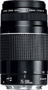 Canon EF 75-300 mm F4.0-5.6 III 58 mm Obiettivo (compatible con Canon EF) nero