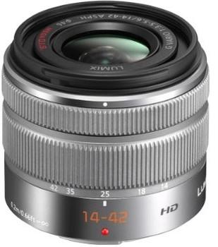 Panasonic Lumix G VARIO 14-42 mm F3.5-5.6 ASPH. O.I.S. II 46 mm Obiettivo (compatible con Micro Four Thirds) argento