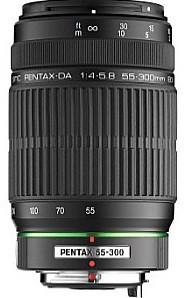 Pentax smc DA 55-300 mm F4.0-5.8 ED 58 mm Obiettivo (compatible con Pentax K) nero