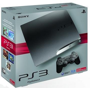 Sony Playstation 3 Slim Schwarz 250 Gb Inkl Wireless Controller